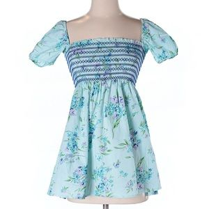 Urban Outfitters blue poppy tunic